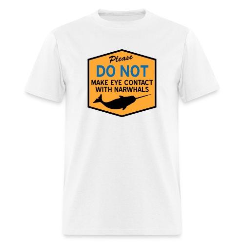 Eye Contact Narwhals - Men's T-Shirt