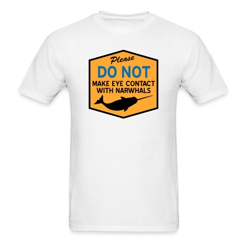 Eye Contact Narwhals - Men's T-Shirt