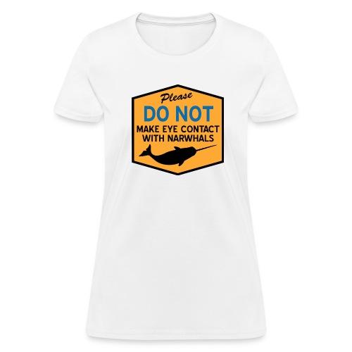 Eye Contact Narwhals - Women's T-Shirt