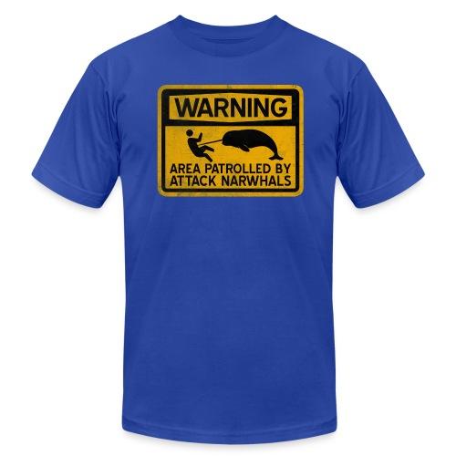 Attack Narwhals (Vintage) - Men's Fine Jersey T-Shirt