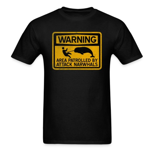 Attack Narwhals (Vintage) - Men's T-Shirt