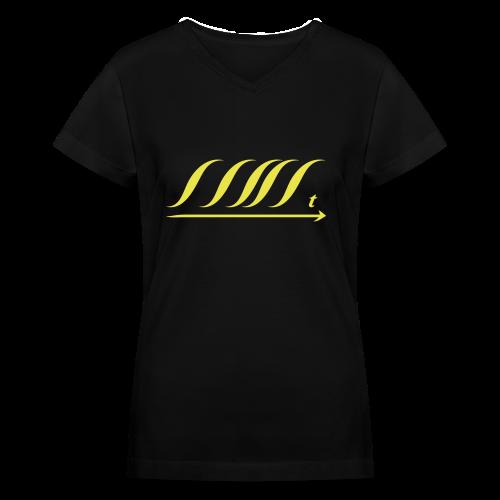 WingBeat-Yellow - Women's V-Neck T-Shirt