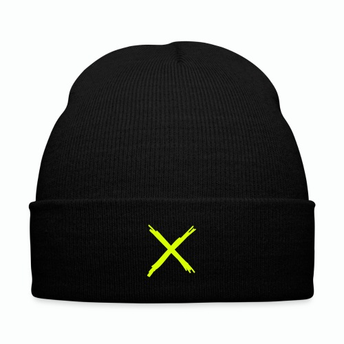#XQZT By Any Means Knit Cap (NEON) - Knit Cap with Cuff Print