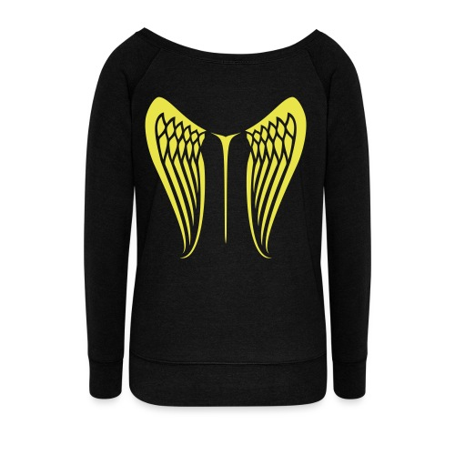WingBeat-Yellow - Women's Wideneck Sweatshirt