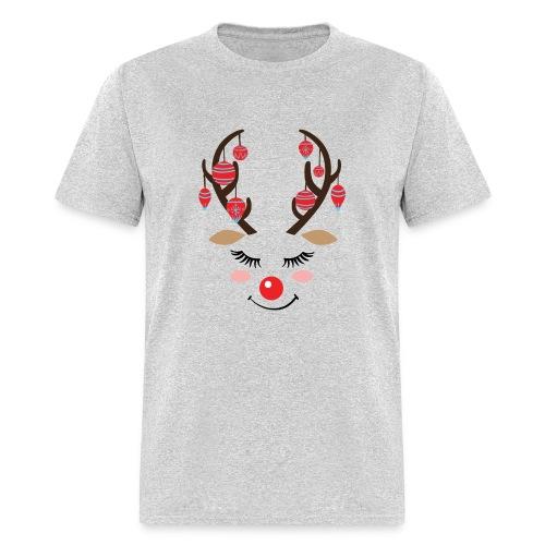 Cute reindeer face Christmas - Men's T-Shirt
