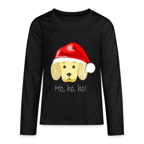 Santa dog 2 - Kids' Premium Long Sleeve T-Shirt