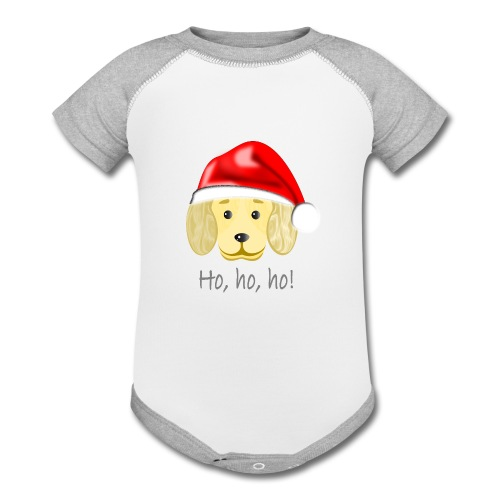 Santa dog 1 - Contrast Baby Bodysuit