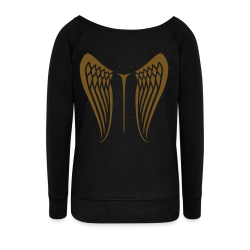 WingBeat-Gold Glitz - Women's Wideneck Sweatshirt