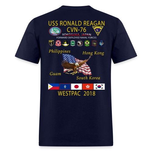 USS RONALD REAGAN CVN-76 WESTPAC 2018 CRUISE SHIRT - Men's T-Shirt