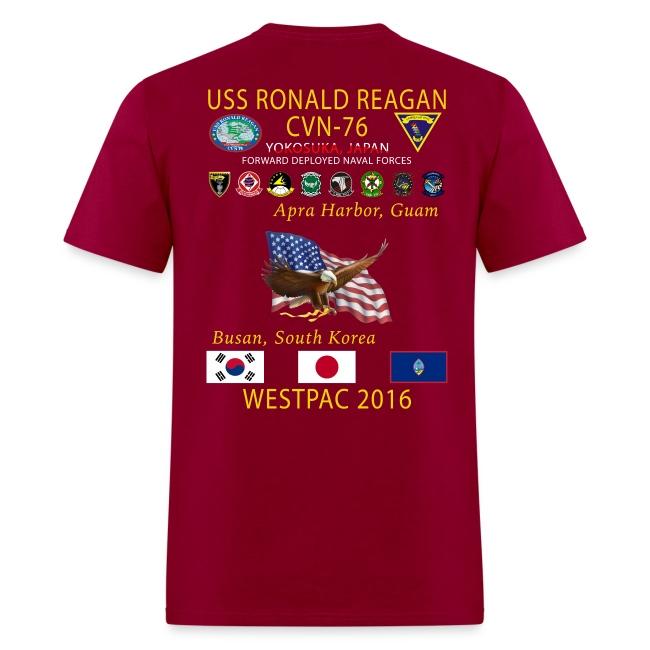 USS RONALD REAGAN CVN-76 WESTPAC 2016 CRUISE SHIRT