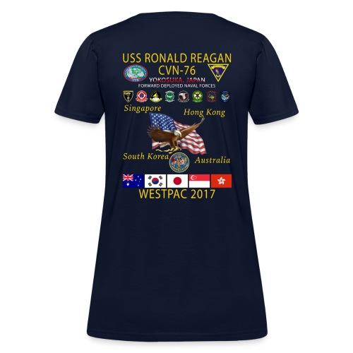 USS RONALD REAGAN CVN-76 WESTPAC 2017 WOMENS CRUISE SHIRT - Women's T-Shirt