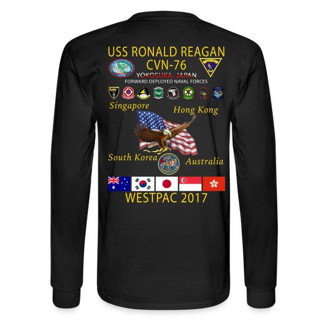 USS RONALD REAGAN CVN-76 WESTPAC 2017 LONG SLEEVE