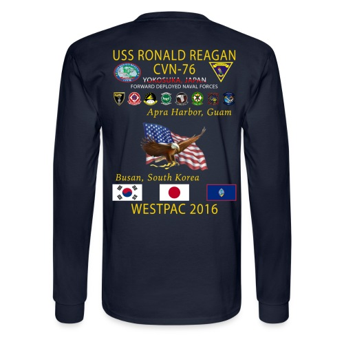 USS RONALD REAGAN CVN-76 WESTPAC 2016 LONG SLEEVE - Men's Long Sleeve T-Shirt