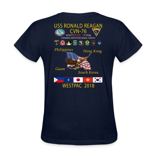 USS RONALD REAGAN CVN-76 WESTPAC 2018 WOMENS CRUISE SHIRT - Women's T-Shirt