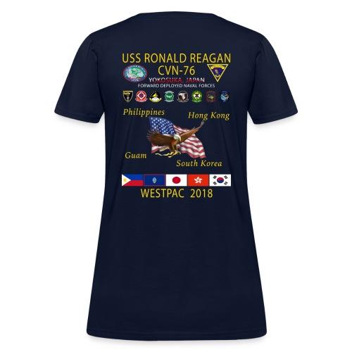 USS RONALD REAGAN CVN-76 WESTPAC 2018 WOMENS CRUISE SHIRT - Women's T-Shirt