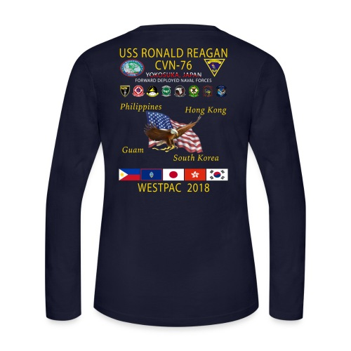 USS RONALD REAGAN CVN-76 WESTPAC 2018 WOMENS LONG SLEEVE - Women's Long Sleeve Jersey T-Shirt