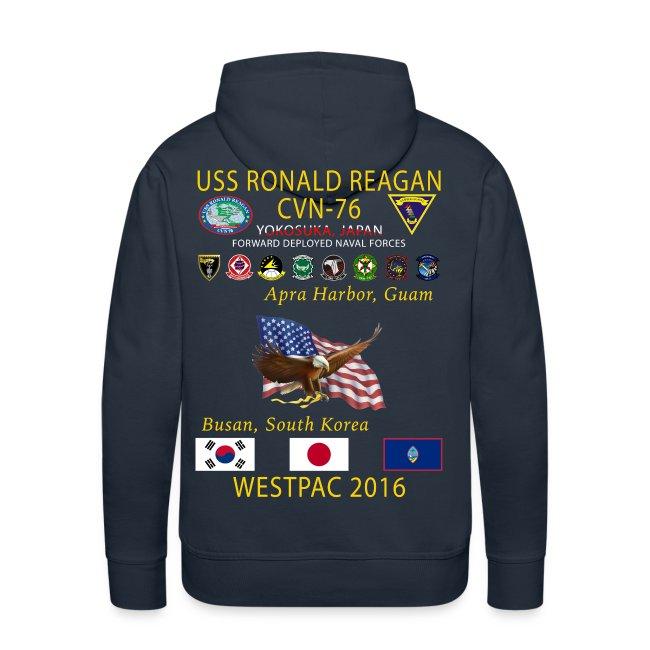 USS RONALD REAGAN CVN-76 WESTPAC 2016 HOODIE