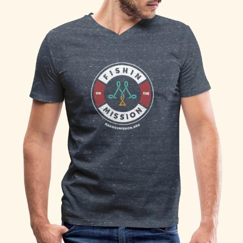 Fishin on the mission - Men's V-Neck T-Shirt by Canvas
