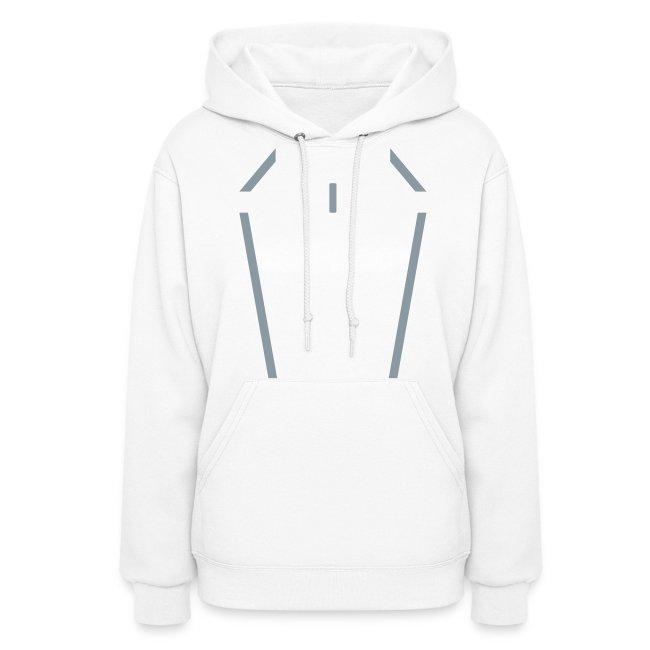 SIREN women's disc hoodie (silver)