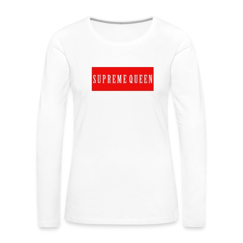 Supreme Queen LS - Women's Premium Long Sleeve T-Shirt
