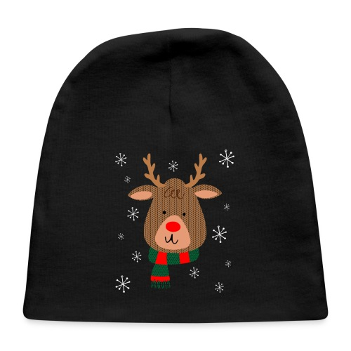 Red Nosed Reindeer Baby Cap - Baby Cap