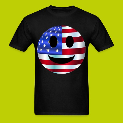 USA Smiley Face -ink print- - Men's T-Shirt