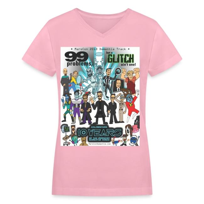 Women's Marscon 2013 pi-nk t-shirt v-neck