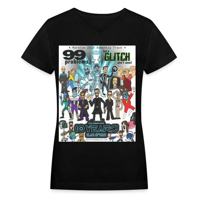 Women's Marscon 2013 black t-shirt v-neck