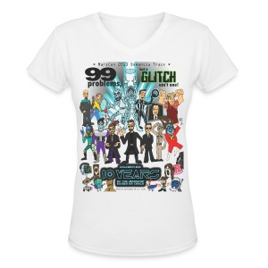 Women's Marscon 2013 white t-shirt v-neck - Women's V-Neck T-Shirt
