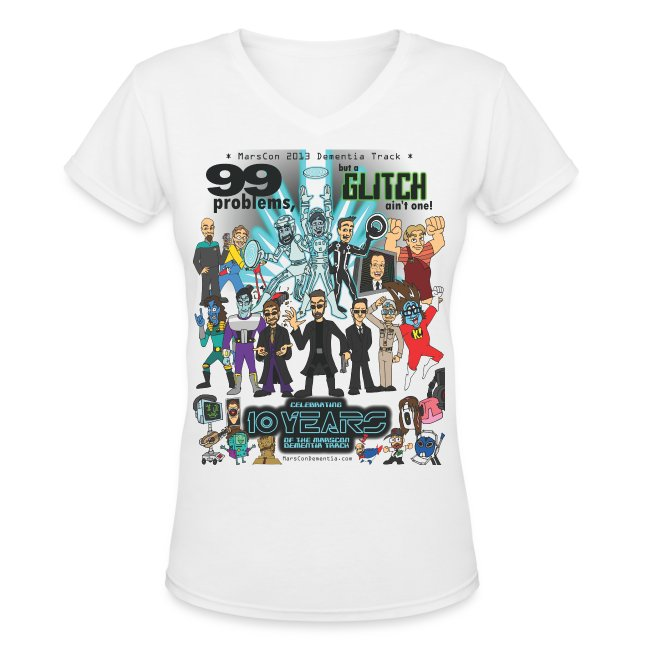 Women's Marscon 2013 white t-shirt v-neck