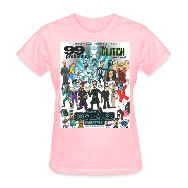 Women's Marscon 2013 pink t-shirt