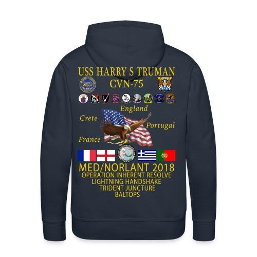 USS HARRY S TRUMAN 2018 CRUISE HOODIE - Men's Premium Hoodie