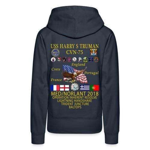 USS HARRY S TRUMAN 2018 WOMENS CRUISE HOODIE - Women's Premium Hoodie