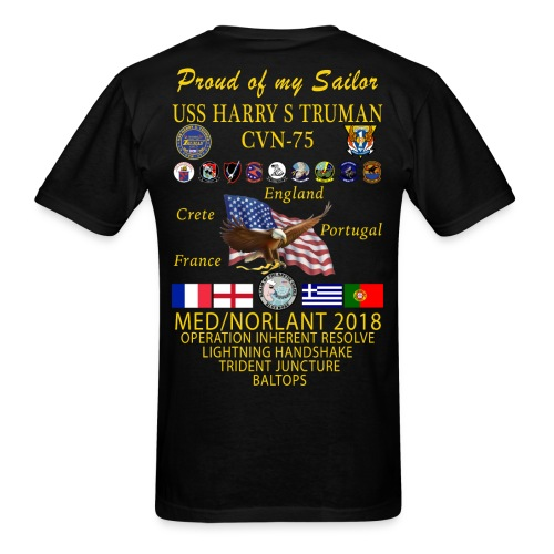 USS HARRY S TRUMAN 2018 CRUISE SHIRT - FAMILY EDITION - Men's T-Shirt