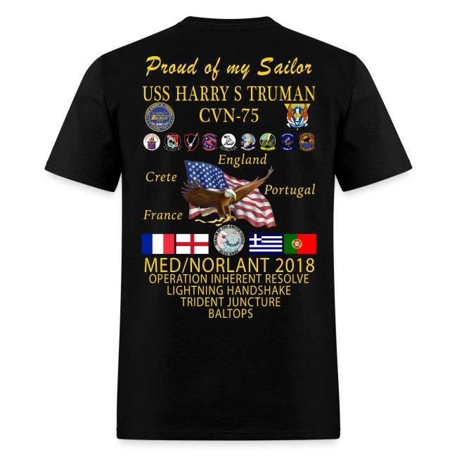 USS HARRY S TRUMAN 2018 CRUISE SHIRT - FAMILY EDITION