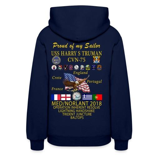 USS HARRY S TRUMAN 2018 WOMENS CRUISE HOODIE - FAMILY EDITION - Women's Hoodie