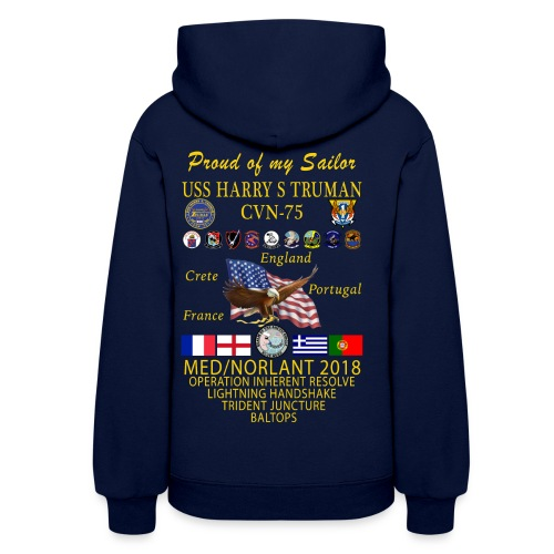 USS HARRY S TRUMAN 2018 WOMENS CRUISE HOODIE - FAMILY EDITION - Women's Hoodie