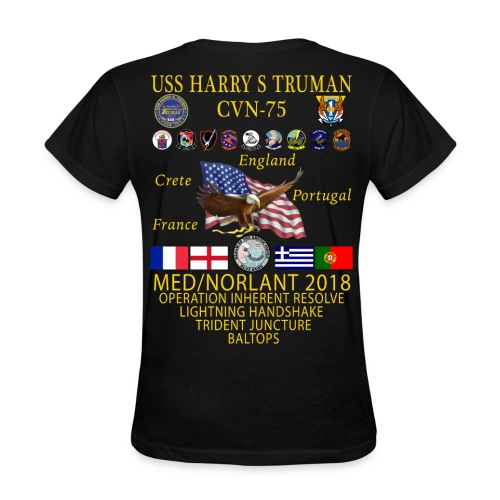 USS HARRY S TRUMAN 2018 WOMENS CRUISE SHIRT - Women's T-Shirt