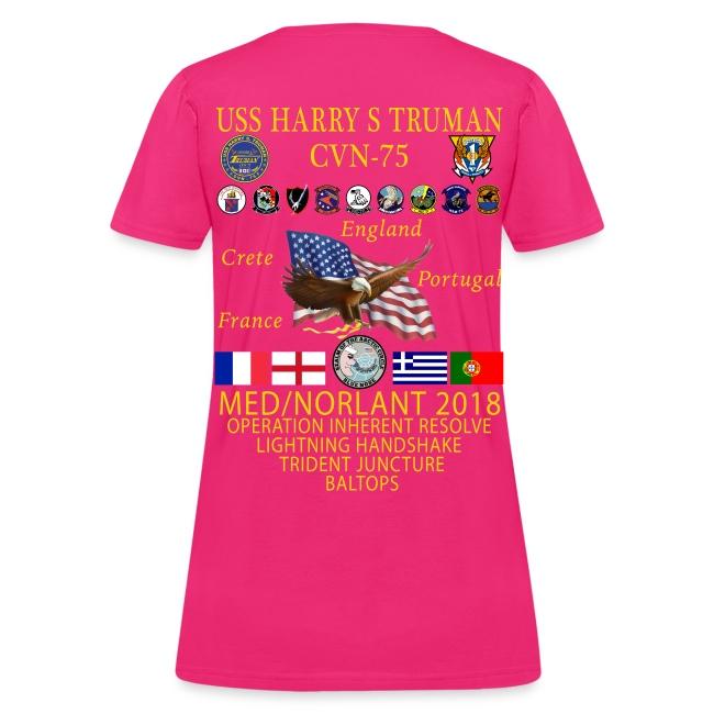 USS HARRY S TRUMAN 2018 WOMENS CRUISE SHIRT