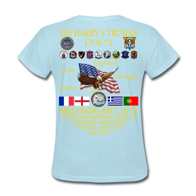 USS HARRY S TRUMAN 2018 WOMENS CRUISE SHIRT