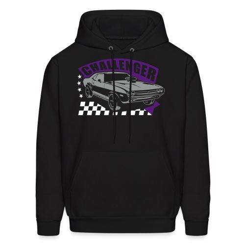 Dodge Challenger Racing | Black Purple | Mens Hoodie - Men's Hoodie