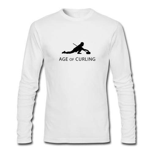 Age of Curling White - Men's Long Sleeve T-Shirt by Next Level