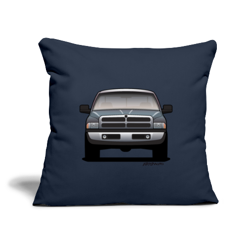 "American Horn Pickup Truck - Throw Pillow Cover 18"" x 18"""