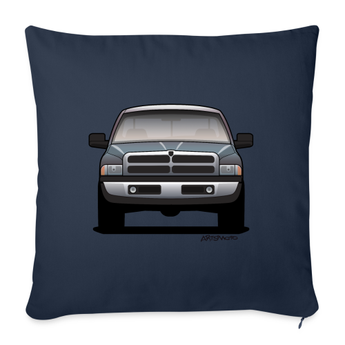 American Horn Pickup Truck - Throw Pillow Cover