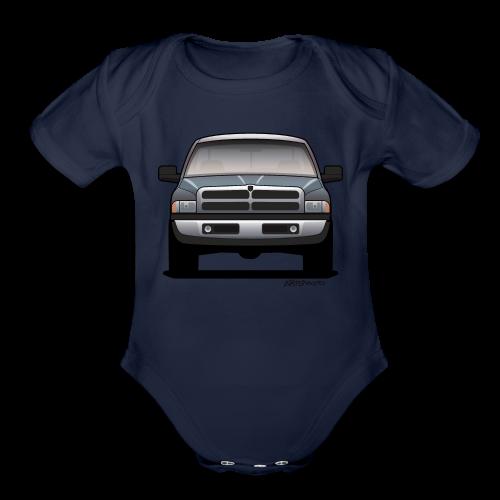American Horn Pickup Truck - Organic Short Sleeve Baby Bodysuit