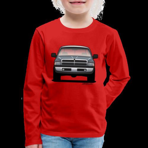 American Horn Pickup Truck - Kids' Premium Long Sleeve T-Shirt