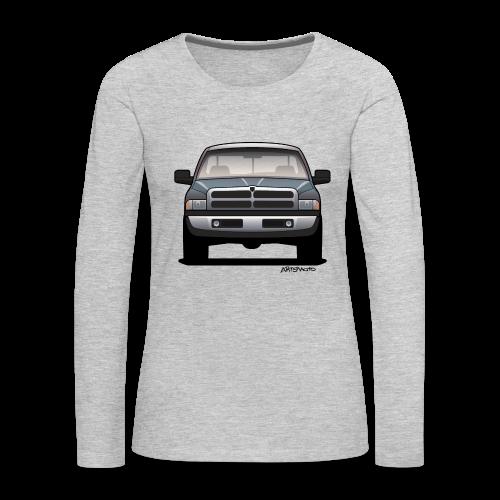 American Horn Pickup Truck - Women's Premium Long Sleeve T-Shirt