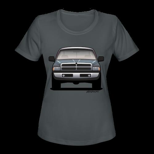 American Horn Pickup Truck - Women's Moisture Wicking Performance T-Shirt