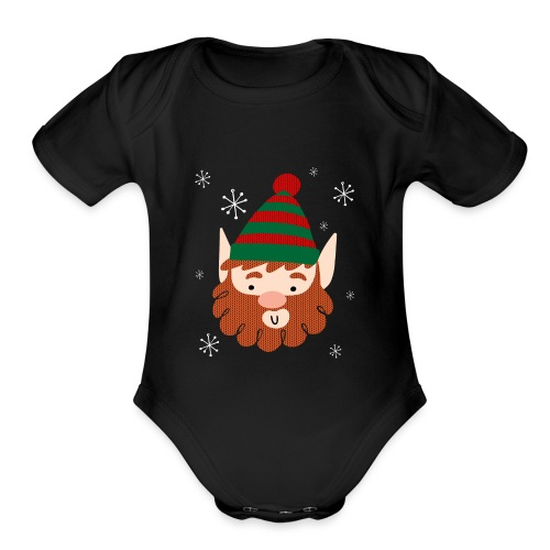 Cool Santas Elf Baby Premium Christmas Bodysuit - Organic Short Sleeve Baby Bodysuit
