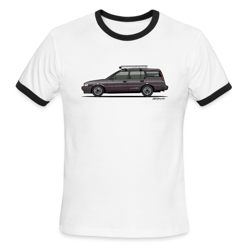 Retronics Garage's AE95 Corolla 4WD Wagon - Men's Ringer T-Shirt